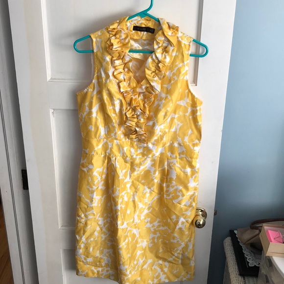 The Limited Dresses & Skirts - The Limited- Yellow and White Cocktail Dress